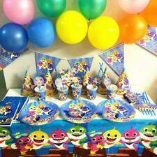 Baby Shark Kids Birthday Party Supplies Tableware Decor  Tablecloth Plates,cups