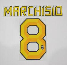 JUVENTUS F.C. grafiche UFFICIALI MARCHISIO 8 stagione 10/12 per maglia HOME