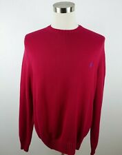 Polo Ralph Lauren Mens Knit Cotton Long Sleeve Crew Neck Solid Red Sweater XL