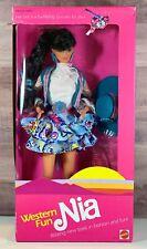 Mattel Barbie Western Fun Nia 1989 Vintage Barbie Doll Mattel 9933 NRFB Pink Box