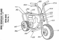 "Build A Mini-Bike -Vintage Plans- PLUS ""FREE""  Mystery GIFT"