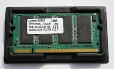 Memoria RAM SAMSUNG SO-DIMM 200 PIN DDR PC2700 333MHZ 256MB