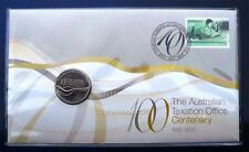 2010 Centenary Of Australian Tax OfficeTwenty Cent Coin Stamp Set PNC FDC