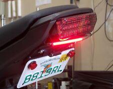 Honda Grom MSX125 SS Fender Eliminator Kit w/ Red LED Turn Signal Light Bar; S