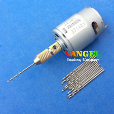 VANGEL--mini pcb drill Press tool 380 motor 3V~12V with drill bits 0.8~1.5mm
