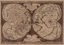 MAPPA di Mercatore doppio cordiform Mondo Muro Gigante Poster Art Print LLF0561