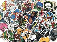 20 pc Pack Horror Themed Mixed Skateboard Stickers Skull Blood Gore Sticker Bomb