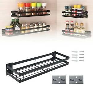 Wall Mounted Kitchen Freezer Door Spice Rack Cabinet Organizer Storage Holder