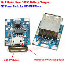 Micro USB 5V 1A Lithium Li-ion 18650 Battery Charger Module Board DIY Power Bank