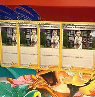 ⭐️4x Professor's Research 178/202 Sword & Shield Rare Non-Holo POKEMON CARD NM