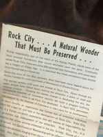 Rock City Kansas Prairie Brochure Historical Souvenirs & Travel Memorabilia