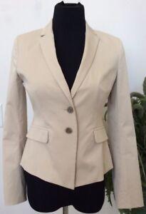 Ann Taylor Women's Beige Cotton Blend Multi-Occasion Blazer Jacket Size 2P EUC