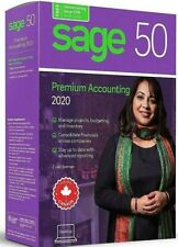 BRAND NEW SAGE 50 PREMIUM ACCOUNTING 2020 - TWO USER LICENSE- FREE SHIPPING!!!!