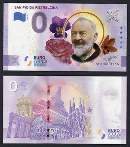 Banconota Souvenir da 0 euro 2020 FDS-/UNC- (Padre Pio Pietrelcina)  C-10