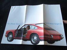 1967 1966 Porsche 'Go Ahead' Foldout Brochure 911 912 Original PoA Sales Catalog