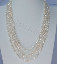 """pearl necklace 68"""" 7-9mm white baroque freshwater"""