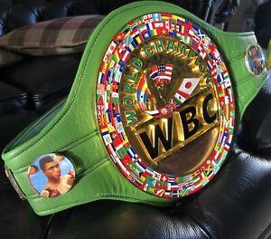 WBC World championship Belt. *DEFECTS* WBO,IBF,WBA,IBO ( Full Leather )