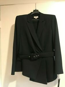 New women's two pieces Tahari pants suit,size 10,with lining, navy replenishment