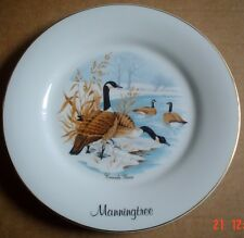 Norfolk China Collectors Plate MANNINGTREE Souvenir Plate Canada Geese