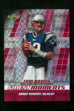 2008 Topps Finest #FM-TB Tom Brady Finest Moments XFRACTOR #25/25