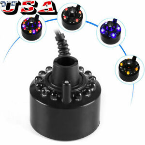 12 LED Ultrasonic Mist Fogger Mister Water Fountain Pond Atomizer Air Humidifier