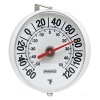 Big Outdoor Wall Analog Patio Thermometer w/Mounting Bracket Temperature Reader