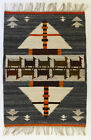 PATH / GREY Vintage Modernist Polish Textile Wall Hanging / Rug Cepelia Textile