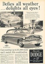 1951 Dodge Automobile - Original Advertisement Car Print Ad J518
