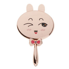 USB Charging Cute Rabbit LED HD Round Vanity Mirror for Makeup w/ Handle