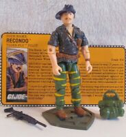 Vintage Hasbro GI Joe Tiger Force 1988 V2 Recondo  Complete W/File Card  NM+!