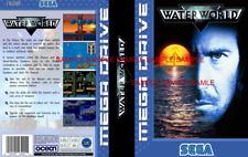 Waterworld Sega Mega Drive Pal Ersatz Karton Kunst Schutzhülle Einsatz Abdeckung