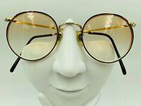 Vintage ArtCraft Tortoise Gold Metal Round Sunglasses USA FRAMES ONLY