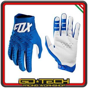 GUANTI FOX 360 Blu Bianco 2019 MOTO CROSS ENDURO MOTARD ATV BICI MTB DOWNHILL