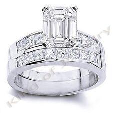 3.52 Ct. Emerald Cut Diamond Bridal Set