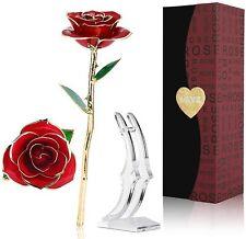 24K Gold Rose,Ewige Rose Handgefertigt Konservierte Rose mit  Geschenkbox