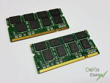 2x1GB Ram Speicher 2GB DDR1 Notebook Arbeitsspeicher RAM SO-DIMM PC2700 S 333Mhz