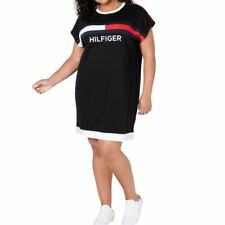 TOMMY HILFIGER SPORT Women's Plus Size French Terry T-Shirt Dress TEDO