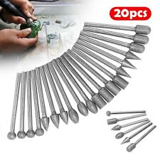 20pcs Diamond Burr Set Drill Bits For Mini Drill Dremel Rotary Tool Accessories