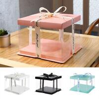 Transparent Wedding Gift Box Cake Box DIY Rose Flower Packaging Box Plastic