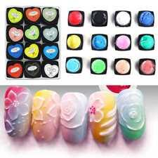 12 Farbe UV Gel Nail Art  Malerei Skulptur Geschnitzte Kleber Modellierung Set