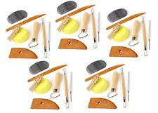 Set of 5 Clay Pottery Tool Kits 8 Pc Set Ceramics Wax Carving Sculpting Molding