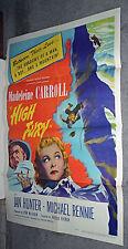 High Fury 1948 movie poster Mountain Climbing/Madeleine Carroll/Michael Rennie