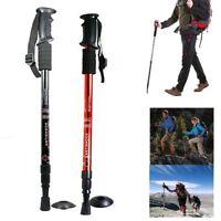 1X 2X Trekking Pole Walking Hiking Sticks 3 Adjustable Retractable Anti-shock