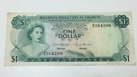 Bahamas 1 One Dollar Bahamas Monetary Authority Banknote E410