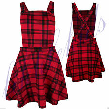 Unbranded Square Neck Checked Sleeveless Dresses for Women