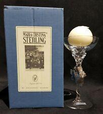 Maria Cristina Sterling Porta candela argento e cristallo lavorato a mano Rare