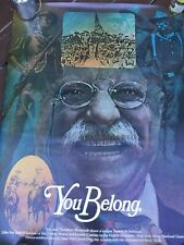 Original 1975 Us Government Printing Office You Belong Poster Teddy Roosevelt