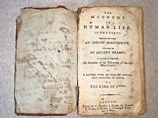 1791 Economy Of Human Life English translation from Indian Manuscript Auction