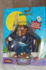 """Disney's Beauty and the Beast Beast 5"""" Bend-Ems with Purple Cape 1991 Just Toys"""