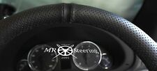 FOR MERCEDES VITO 2 W639 PERFORATED LEATHER STEERING WHEEL COVER + BLACK STRAP